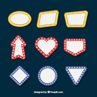 Collection d'affiches brillantes en design plat