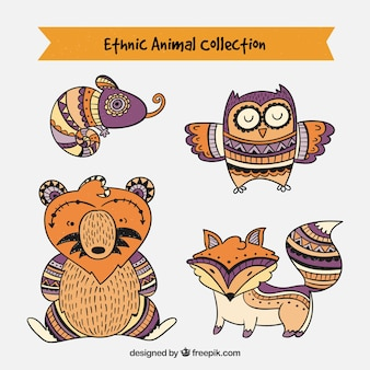 Collection d'animaux ethniques