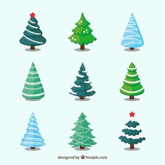 Collection d'arbres de Noël décoratifs