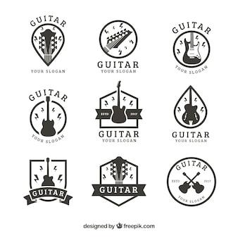 Collection d'autocollants de guitare vintage