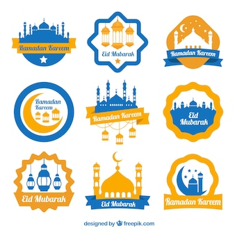 Collection d'autocollants décoratifs du Ramadan