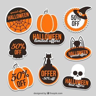 Collection d'autocollants Halloween