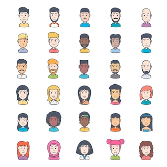 Collection d'avatar des gens