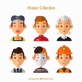 Collection d'avatar drôle d'homme