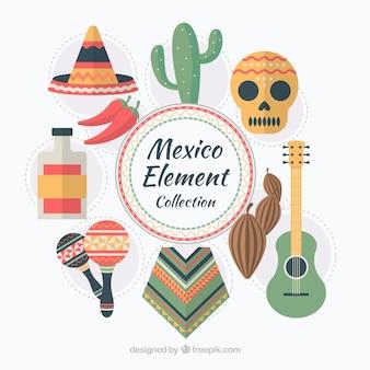 Collection d'éléments du Mexique