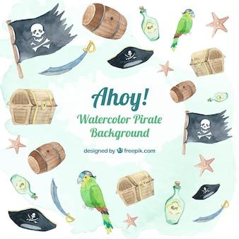 Collection d'éléments pirates