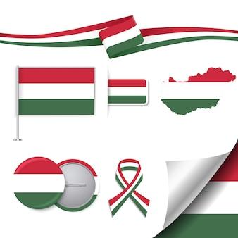 Collection d'éléments représentatifs de la Hongrie