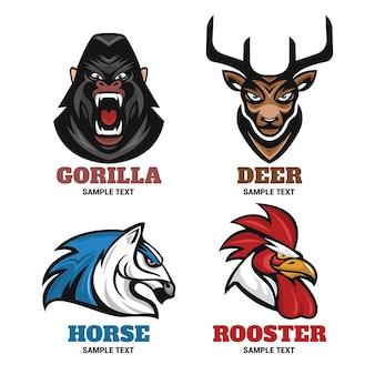 Collection d'équipement pour badges d'animaux pour le logo sportif
