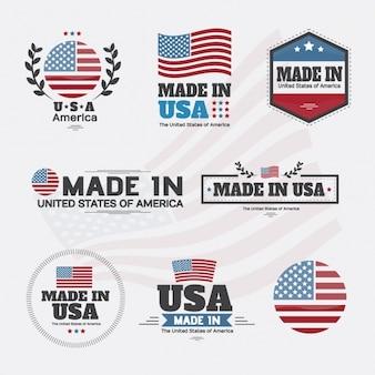 Collection d'étiquettes américaines