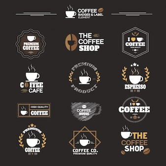 Collection d'étiquettes de café