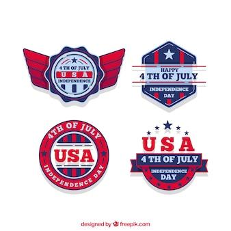 Collection d'étiquettes de jour de l'indépendance des États-Unis