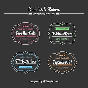 Collection d'étiquettes de mariage