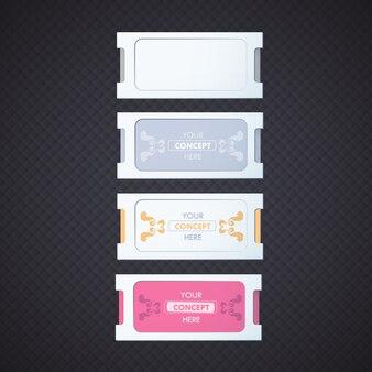Collection d'étiquettes multicolores