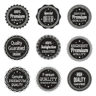 Collection d'étiquettes vintage