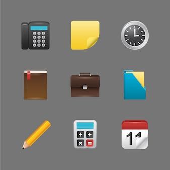 Collection d'icônes d'éléments du bureau