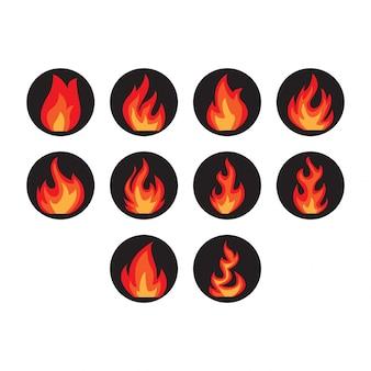 Collection d'icônes d'incendie