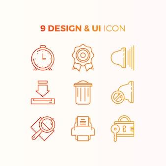 Collection d'icônes d'interface utilisateur