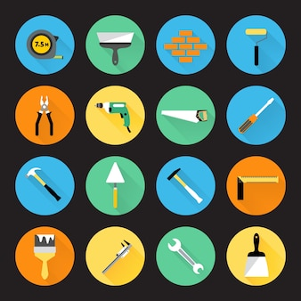 Collection d'icônes d'outils