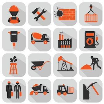 Collection d'icônes de construction