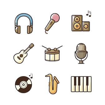 Collection d'icônes de musique