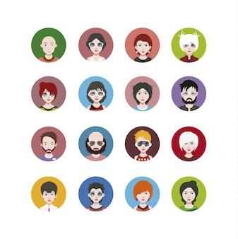 Collection d'icônes de personnages