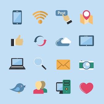 Collection d'icônes réseau