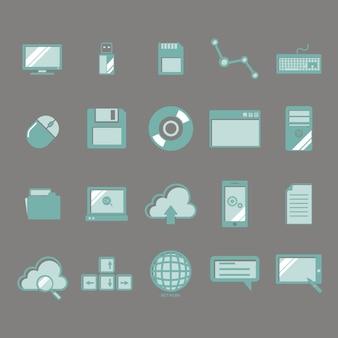 Collection d'icônes technologiques
