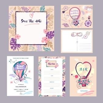 Collection d'invitation de mariage