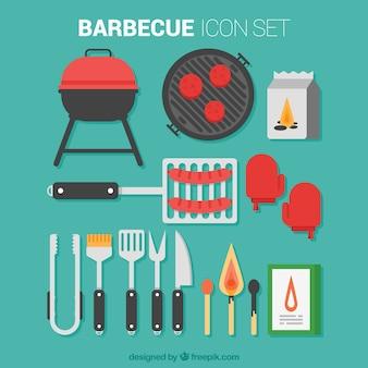 Collection d'outils de Barbecue