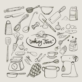 Collection d'outils de cuisine