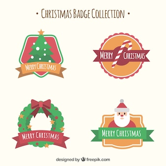 Collection de badges de Noël
