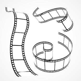 Collection de bandes de films vectoriels 3D