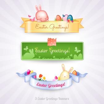 Collection de bannières de Pâques