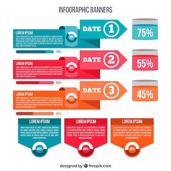 Collection de bannières et d'autres ressources infographiques