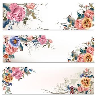 Collection de bannières florales