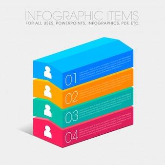 Collection de barres multicolores
