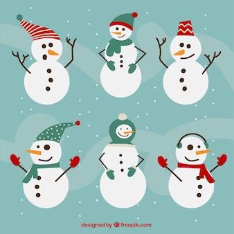 Collection de bonhomme de neige