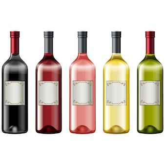 Collection de bouteilles de vin