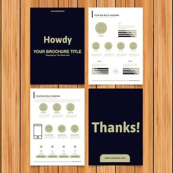 Collection de brochures commerciales en noir et blanc