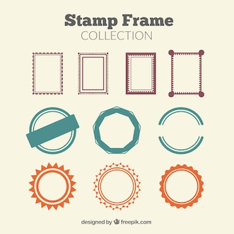 Collection de cadres de timbres