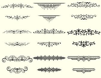 Collection de cadres et de bordures vectorielles