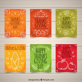 Collection de cartes de Thanksgiving