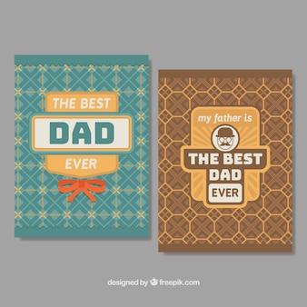 Collection de cartes pour les fêtes des pères