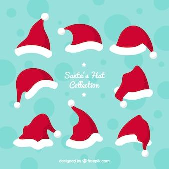 Collection de chapeau de père Noël