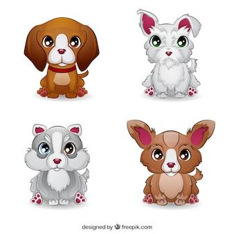 Collection de chien mignon