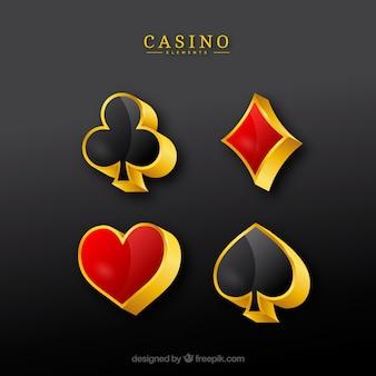 Collection de chiffres de casino