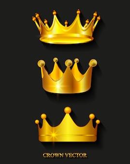 Collection de couronnes d'or