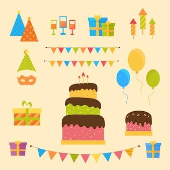 Collection de décoration d'anniversaire