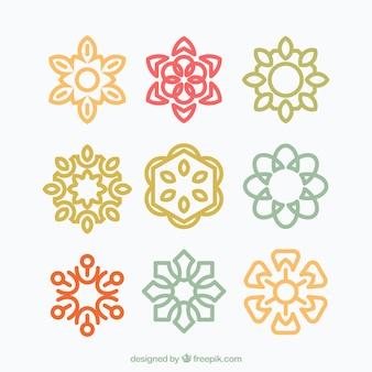 Collection de design plat mandala