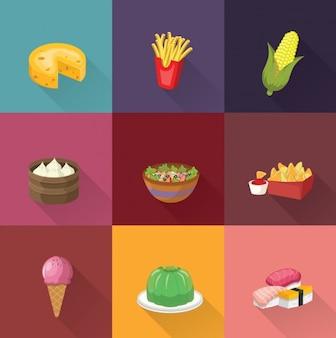Collection de designs alimentaires